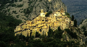 Village. Peillon village provence in france Stock Image