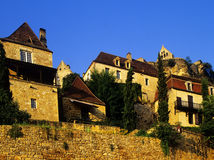 Village. A village with old houses in france - dordogne, beynac, france Stock Photos