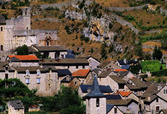 Village. A village in the gorges du tarn, cevennes national park, france Royalty Free Stock Photo