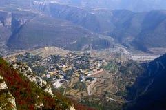 Chinese mountain village Royalty Free Stock Image
