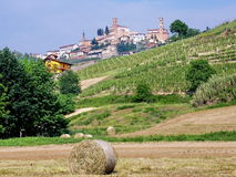 Village. Wine county village, Piedmont, Italy Royalty Free Stock Photo