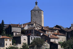 Village. Medieval hilltop village in the mid-pyrenees Royalty Free Stock Photos