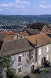 Village. Medieval hilltop village in the mid-pyrenees Royalty Free Stock Photo