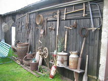 In the village. Tools in  the  old village Royalty Free Stock Photos