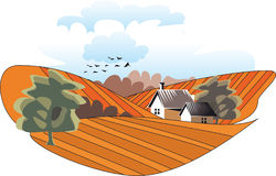 Village. Vector illustration for best prints and other uses Royalty Free Stock Photos