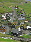 Village. A village on the island Vagar of Faroe Islands Royalty Free Stock Photo