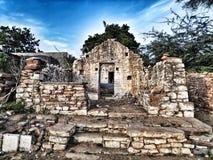 Village abandonné de Gandikotta de maison sous la nuance de bleu de ciel images libres de droits