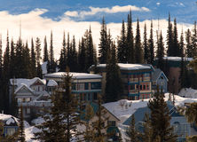 A Village above. The clouds. Silver star, Vernon, BC Royalty Free Stock Photos