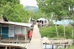 Village above river Stock Images