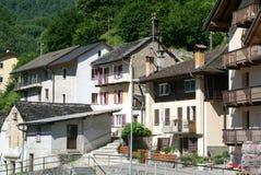 Village of Acquarossa on Blenio valley Royalty Free Stock Photos
