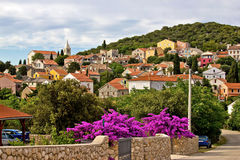 Village adriatique de Cunski, île de Losinj Images libres de droits