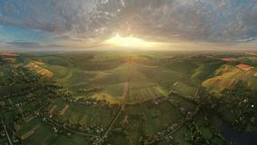 Village aerial timelapse