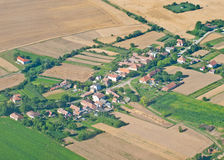 Village, aerial view Stock Images