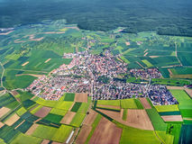 Village aerial view royalty free stock photography