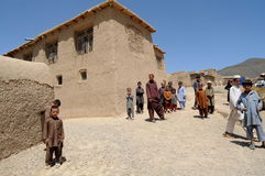 Village in Afghanistan. Chinarey village in Logar province, Afghanistan (summer 2011 Stock Images