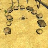 Village africain illustration libre de droits