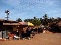 Village Afternoon. A marketplace in an Indian village on a sunny afternoon Royalty Free Stock Images