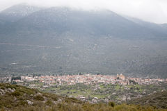 Village Under The Mountain Stock Images
