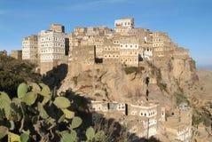 The village of Al-Hajjarah on Haraz mountains Stock Photos