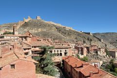 The village of Albarrcin in Teruel, Spain. Stock Photos