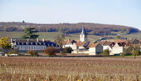Village of Aloxe Corton Royalty Free Stock Photos