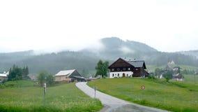 Village by alps Stock Photos