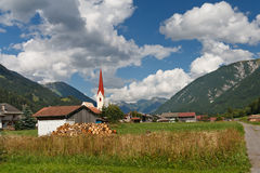 Village in the Alps, Austria Stock Photos