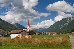 Village in the Alps, Austria Stock Photos