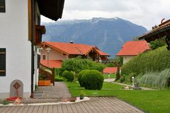 Village in Alps, Germany Royalty Free Stock Photography