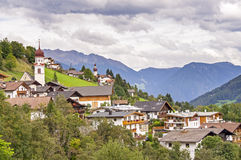 Village in Alps Stock Photography