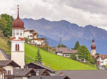 Village in Alps Royalty Free Stock Image