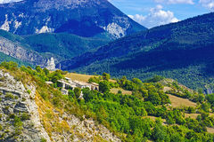 Village in Alps Royalty Free Stock Images