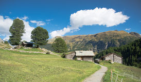 Village in the Alps Royalty Free Stock Photo