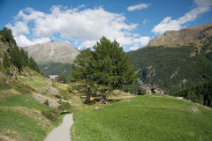 Village in the Alps Stock Photography