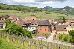 Village in Alsace, France Royalty Free Stock Image