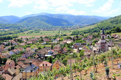 Village of Alsace. Village of Walbach in the valley from Munster to Alsace Stock Image