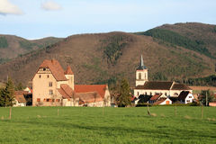 Village of Alsace Stock Images