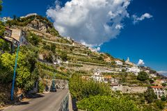 Amalfi Coast - Salerno, Campania, Italy, Europe. Village On Amalfi Coast - Salerno Province, Campania Region, Italy, Europe royalty free stock photos