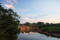 Village in the Amazon Stock Image
