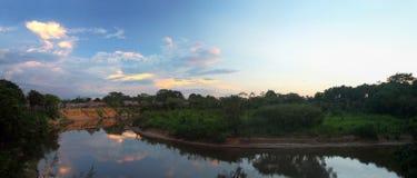 Village in the Amazon Stock Photo