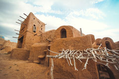 Village of the ancient people in the desert Stock Photos