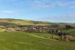 Village anglais BRITANNIQUE d'Abbotsbury Dorset Angleterre dans le pays Images libres de droits