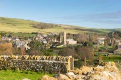 Village anglais BRITANNIQUE de pays d'Abbotsbury Dorset Angleterre Photographie stock