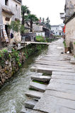 Village antique chinois - village de Pingshan Photo stock