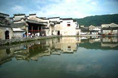 Village antique de l'eau en Chine Images libres de droits