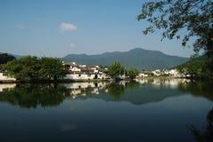 Village antique en Chine méridionale Images libres de droits