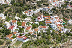 The village Aperi on Karpathos, Greece Stock Image
