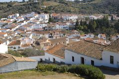 The village of Aracena. Aracena, a town located in a natural park of the Huelva, Andalusia, Spain Stock Photography