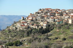 The village of Arachova - 0074513. The village of Arachova is a winter resort area located in the middle part of Greece Royalty Free Stock Images