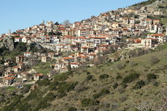 The village of Arachova - 0074517. The village of Arachova is a winter resort area located in the middle part of Greece Stock Images